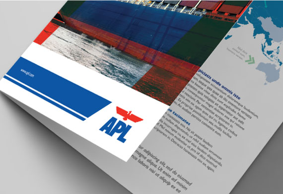 Brand Identity, Brand revamp, Stationery Design for Shipping company APL