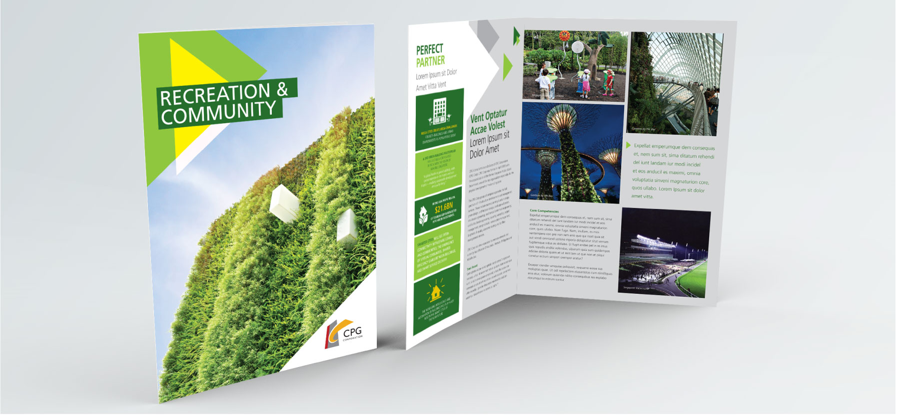 creative design Creative art direction, concept and design layout for CPG corporate folder and profile