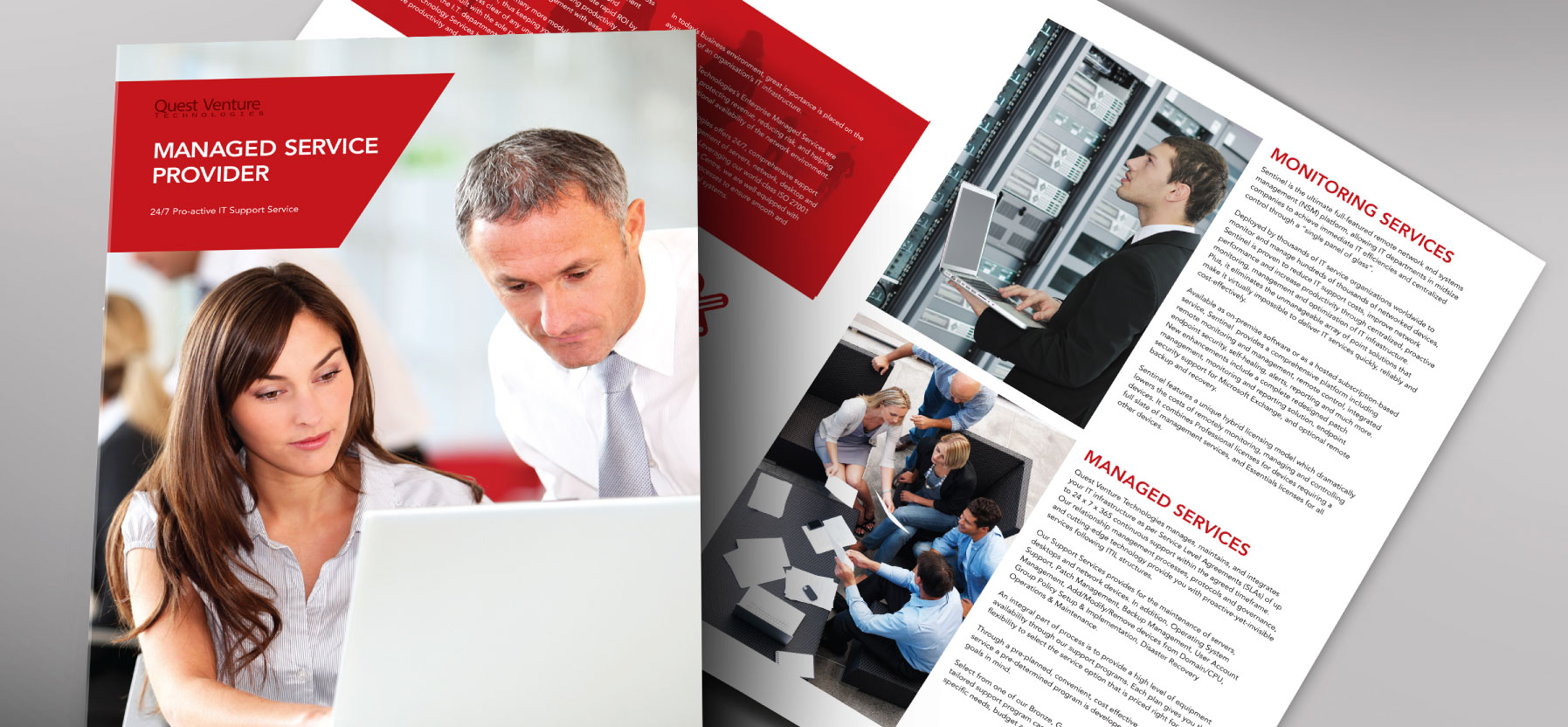 Creative art direction, concept and design layout for corporate folder and profile