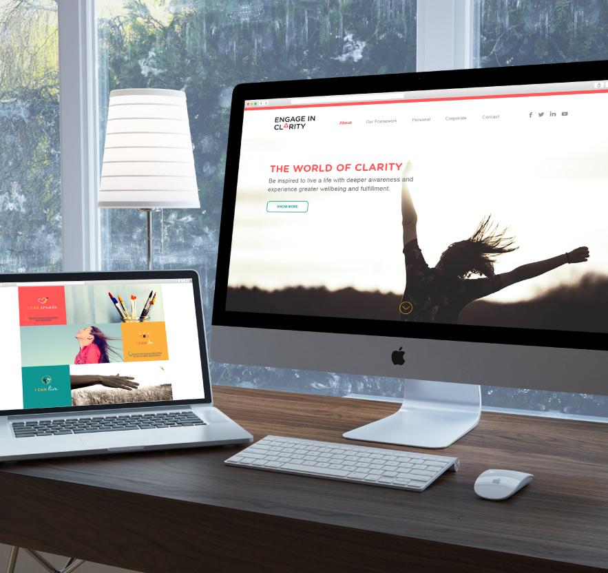 Web Design, Brand Identity, Logo Design, Stationery Design for Consciousness Mindfulness Training company