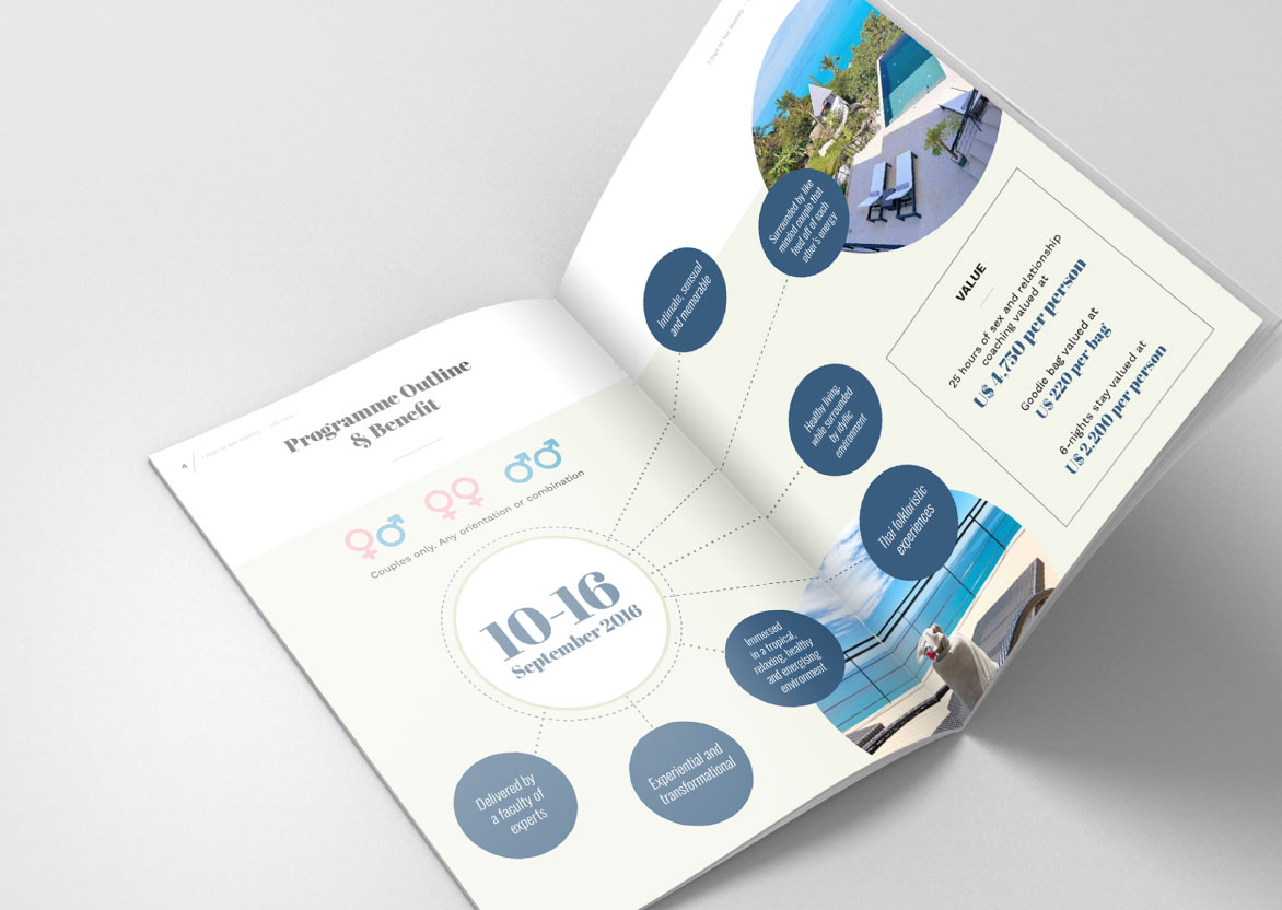 Brochure graphic design and layout for corporate brochure