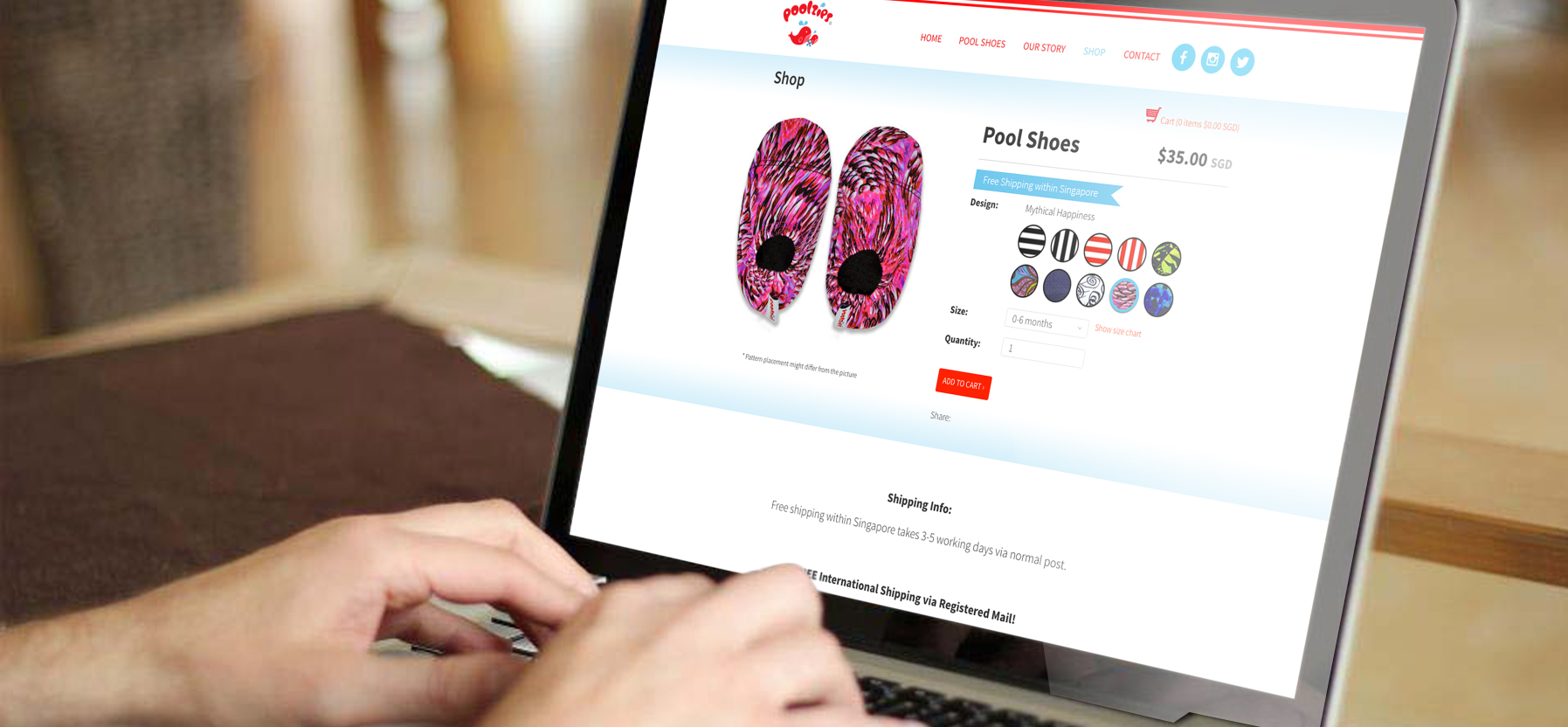 Brand Guide, Brand Identity, Logo Design, Website Design for Children pool shoes