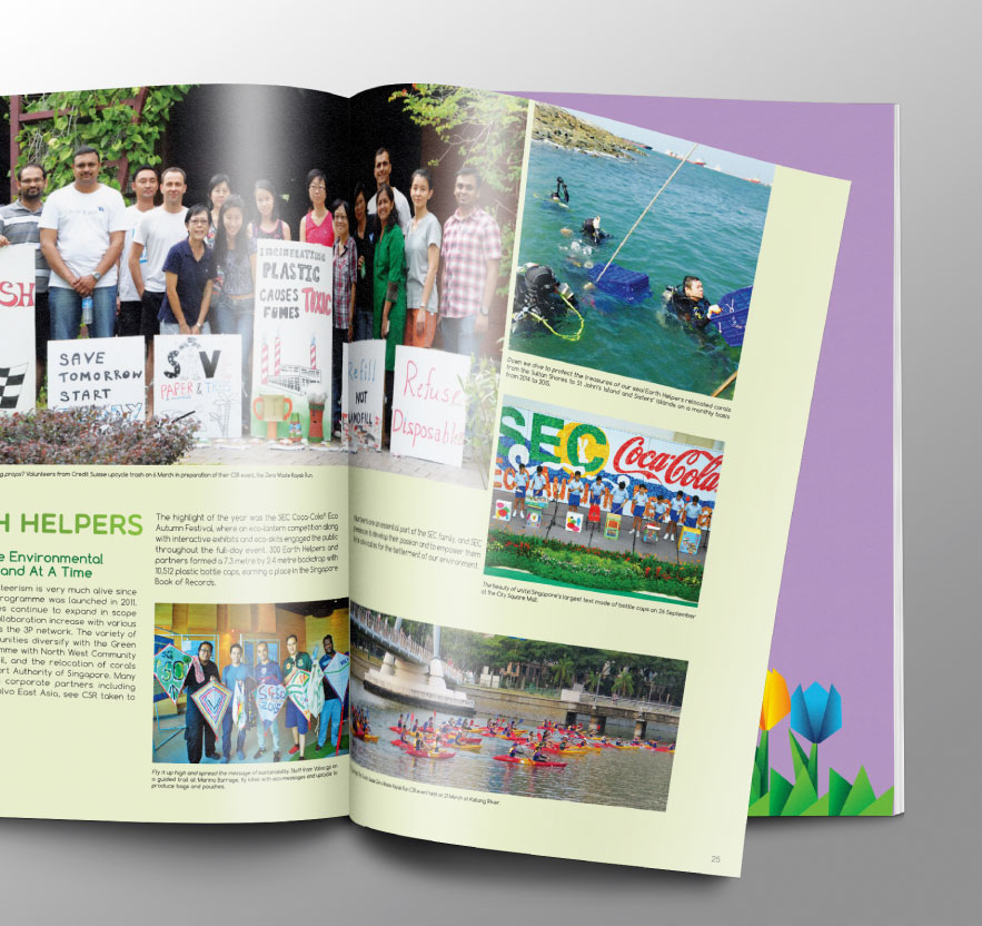 Creative art direction, concept and design layout for Annual Report
