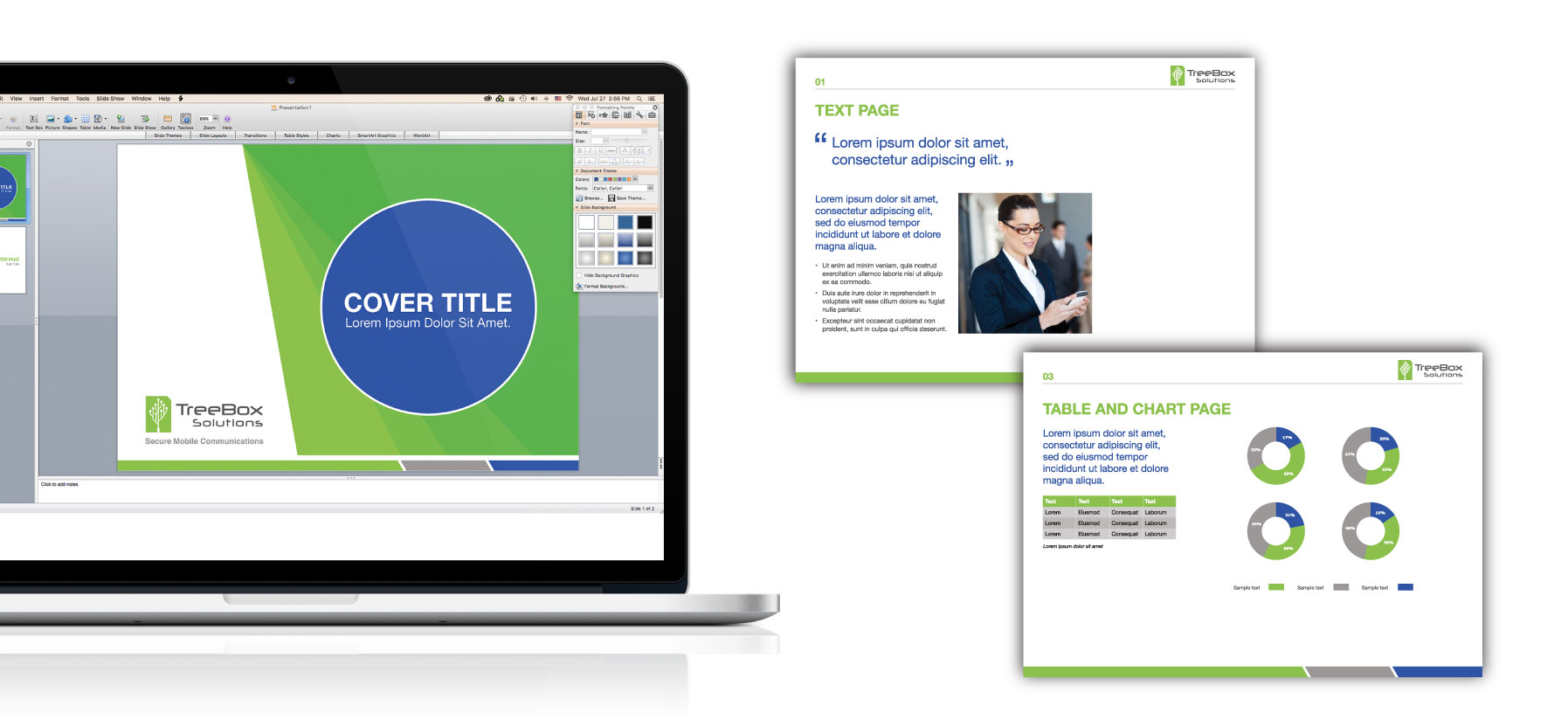 Brochure graphic design and layout for powerpoint template and corporate brochure