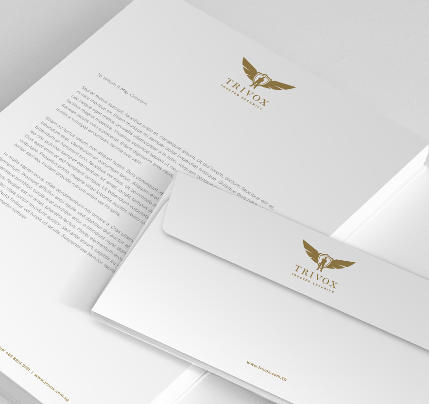 brand revitalisation Brand Identity, Logo Design, Stationery for Security Services Company Trivox