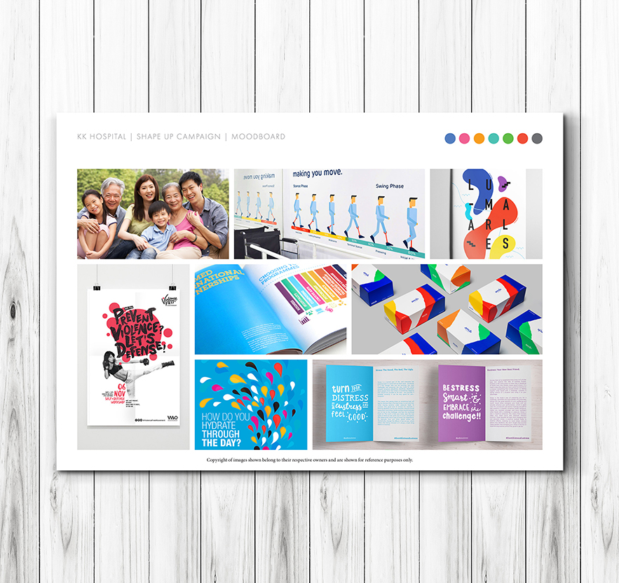 Branding and graphic design in Singapore for KK Hospital