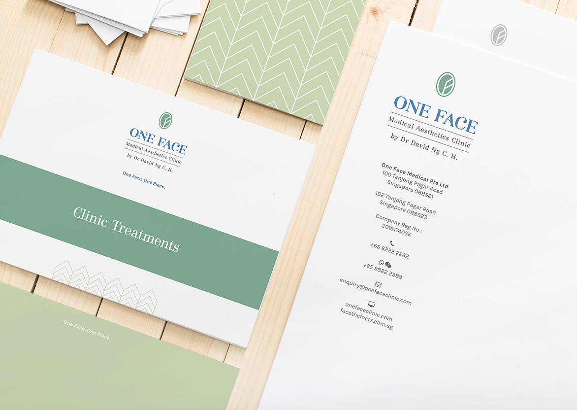 Branding and graphic design in Singapore for One Face and Face the Facts