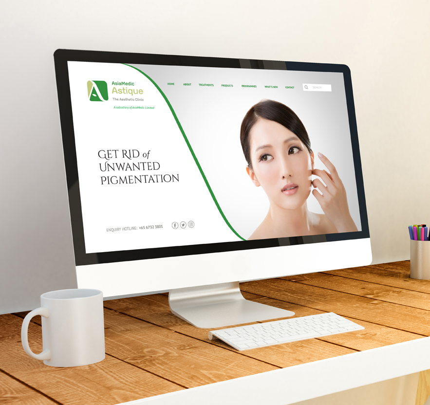 Graphic design and branding and brand identity website design for medical company