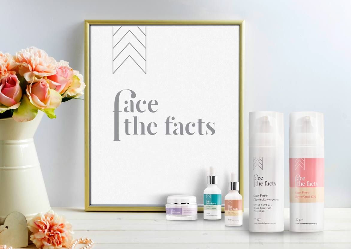 Branding and graphic design for One Face and Face the Facts