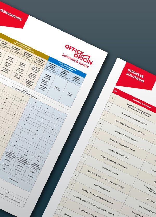 Branding and graphic design for Office Origin